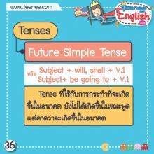 หลักการใช้ Future Simple Tense !!