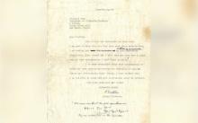 ประมูลจดหมายประวัติศาสตร์ของอัลเบิร์ต ไอน์สไตน์